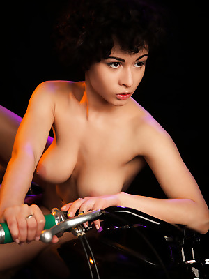 The Life Erotic  Pammie Lee  Big tits, Bike, Lingerie, Ebony, Softcore, Breasts, Tits, Erotic, Boobs, Striptease